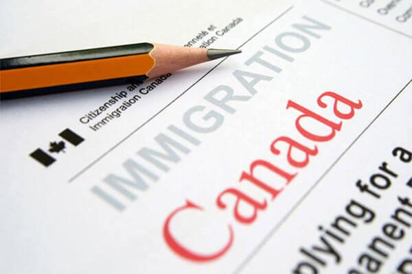 modulo di domanda di immigrazione in Canada