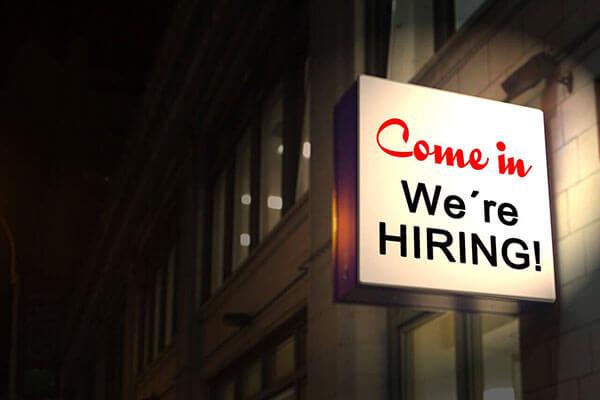 cartello di posizione di lavoro disponibile